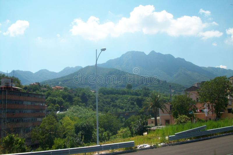 a beleza da montanha do † de Ð taly foto de stock