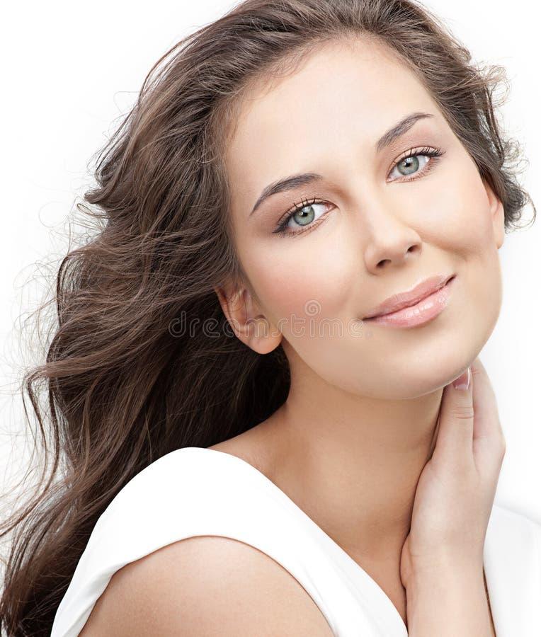 Download Beleza da mulher imagem de stock. Imagem de sorriso, romance - 12805045
