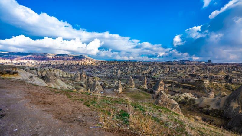 Beleza da paisagem do vale de Cappadocia Göreme em Turquia imagem de stock