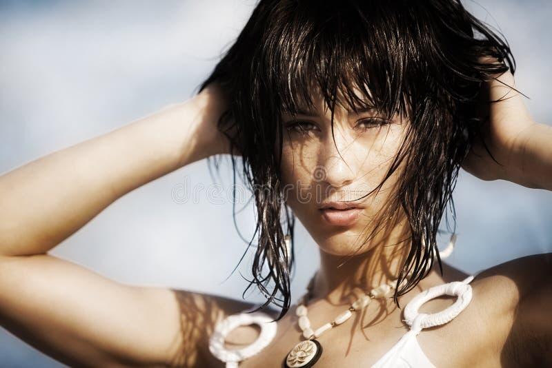 Beleza da praia imagens de stock royalty free