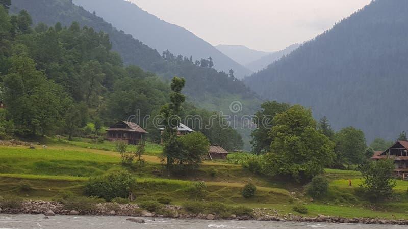 Beleza das montanhas de Neelum fotografia de stock royalty free