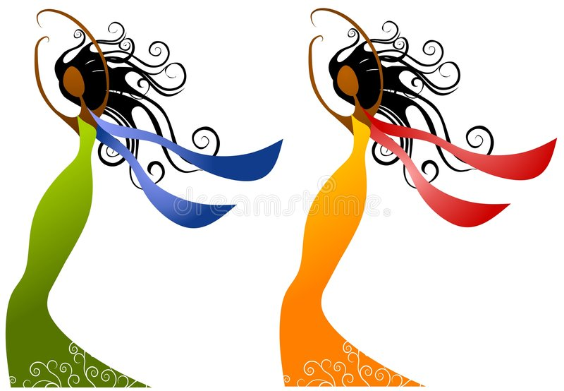 Beleza das mulheres do americano africano ilustração stock