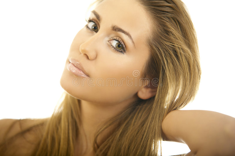 Beleza de cabelo preta fotografia de stock royalty free