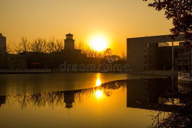 Beleza de China, Tianjin fotografia de stock