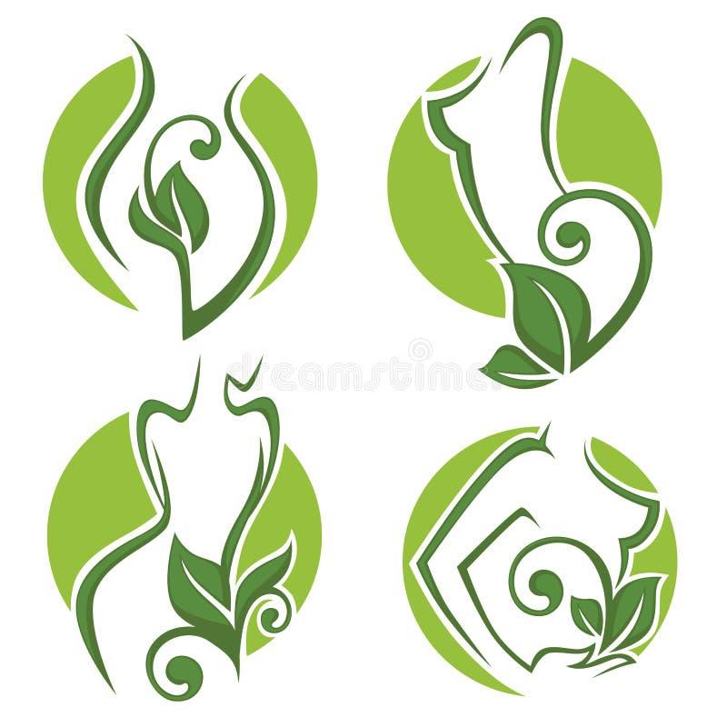 Beleza de Eco ilustração royalty free