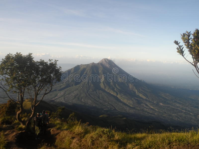 A beleza de Merapi fotografia de stock