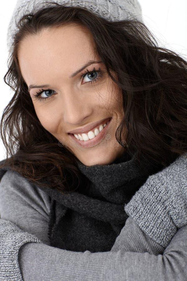 Beleza de sorriso do inverno fotos de stock royalty free