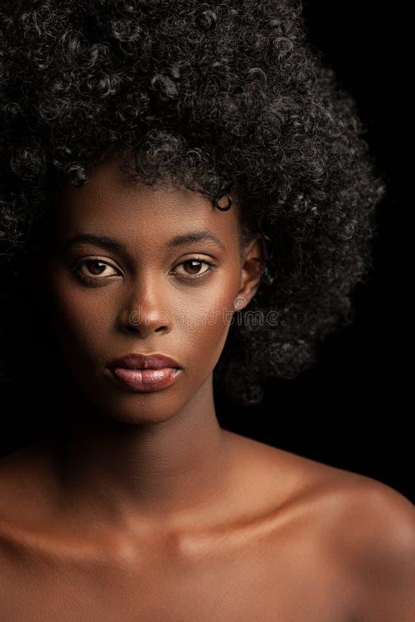 Beleza do Afro imagem de stock