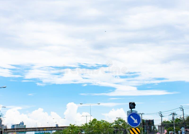 A beleza do céu com nuvens imagem de stock