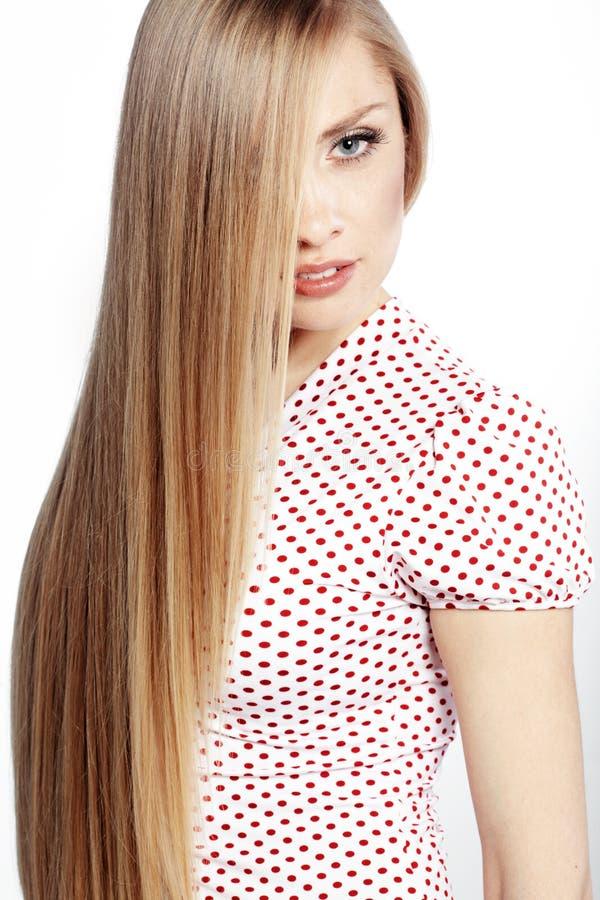 Beleza do cabelo fotografia de stock