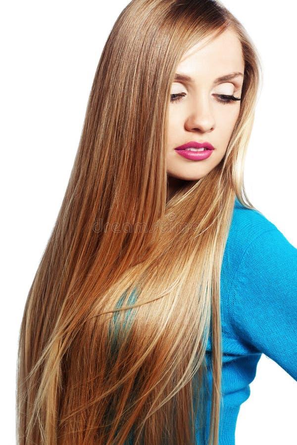 Beleza do cabelo fotografia de stock royalty free