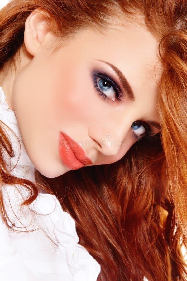 Beleza do Redhead imagens de stock royalty free