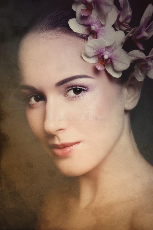 Beleza do vintage fotografia de stock royalty free