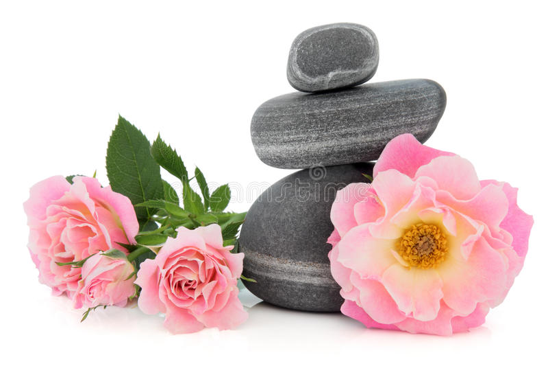 Download Beleza dos termas de Rosa foto de stock. Imagem de branco - 26503082