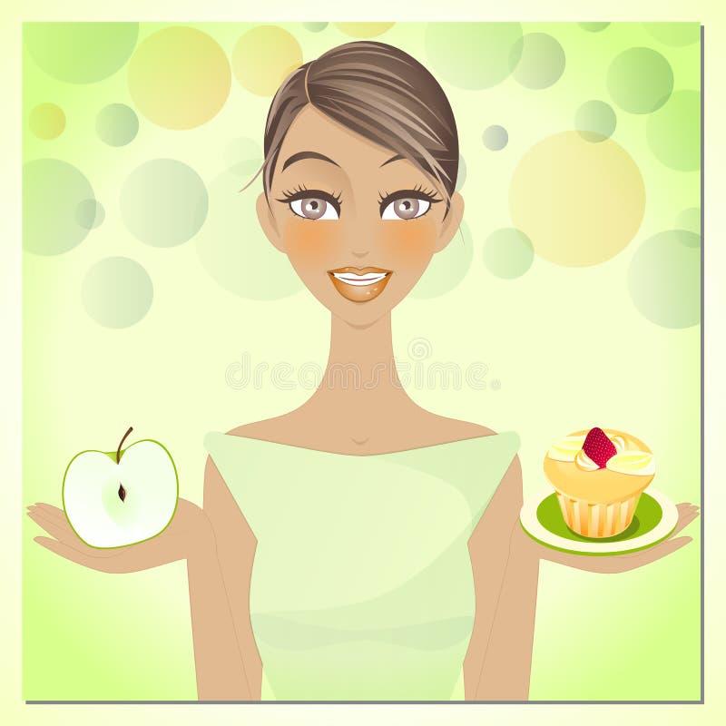 Beleza e dieta ilustração royalty free