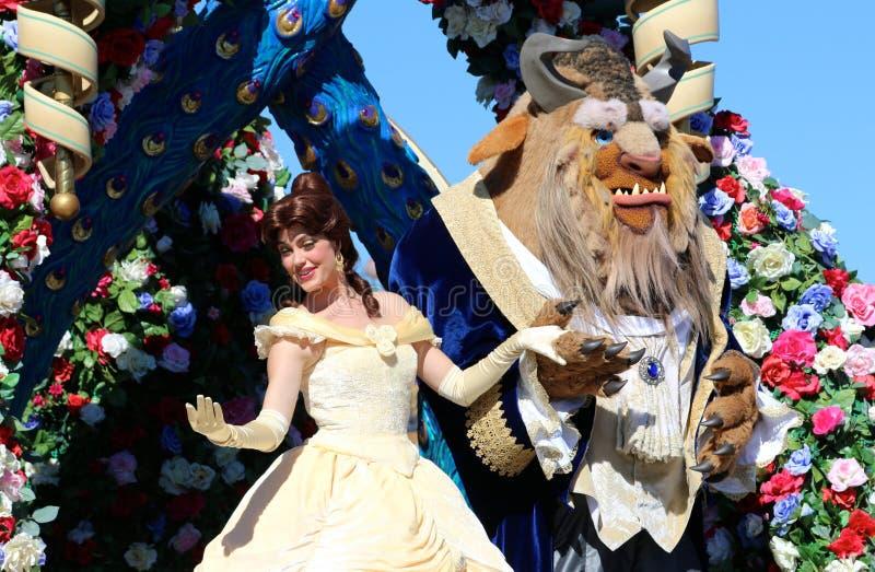 A beleza e o animal de Disney fotografia de stock
