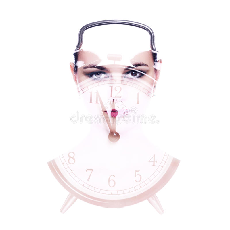 Beleza e tempo fotografia de stock