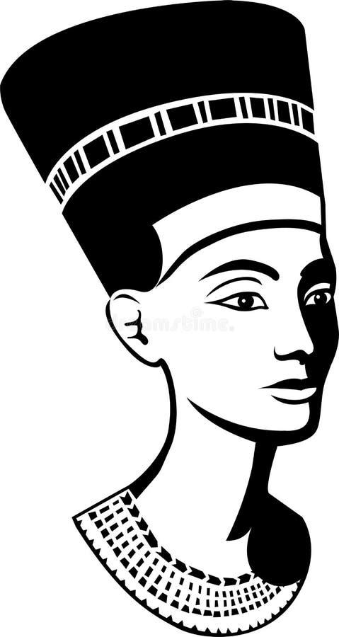 Beleza egípcia/eps ilustração stock