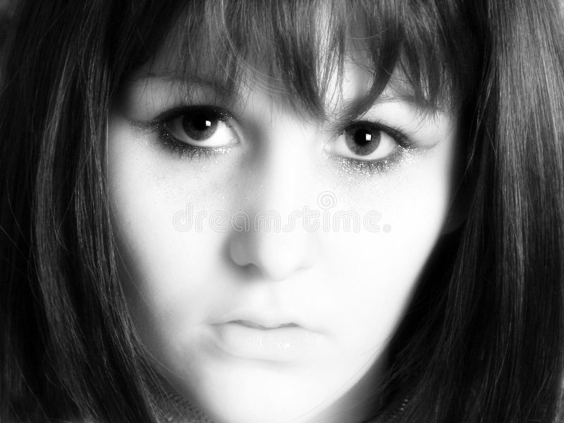 Beleza em preto e branco fotos de stock