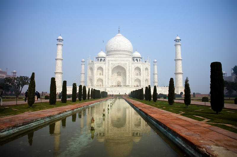Beleza Enchanting de Taj Mahal foto de stock royalty free
