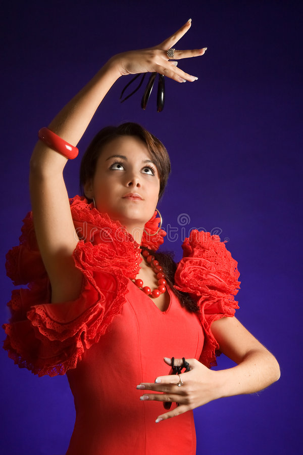 Beleza espanhola foto de stock royalty free