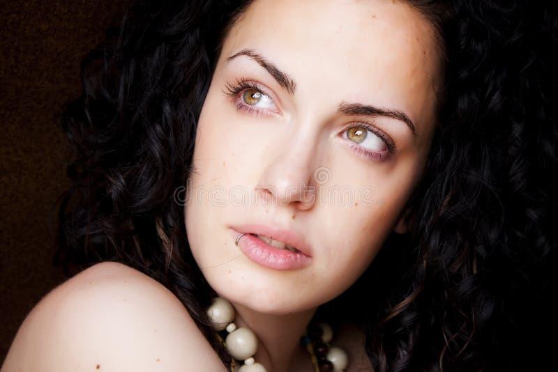 Beleza eyed verde imagens de stock royalty free
