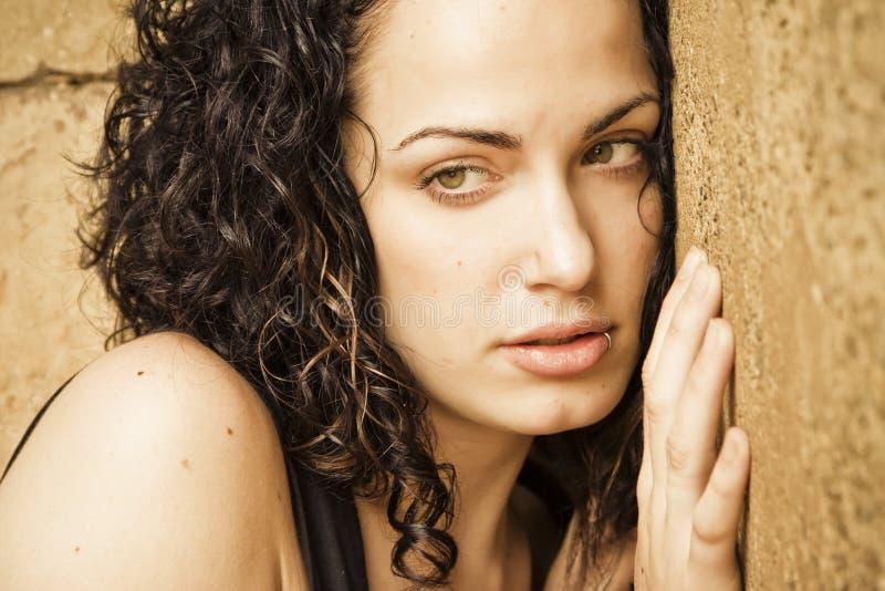 Beleza eyed verde fotos de stock royalty free