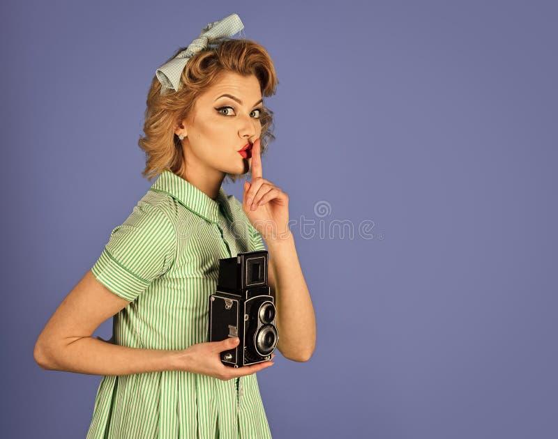 Beleza, fotografia da forma, estilo do vintage fotografia de stock royalty free