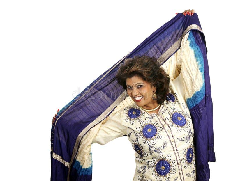 Beleza indiana - dança fotografia de stock royalty free