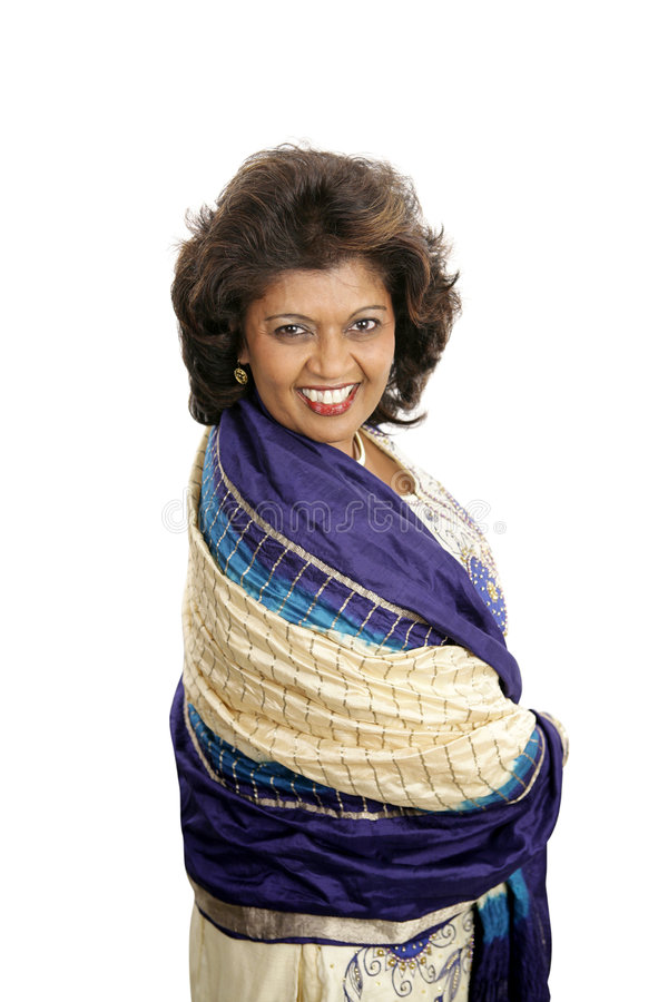 Beleza indiana - flertando fotografia de stock