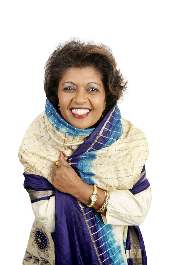 Beleza indiana - sorrindo imagem de stock