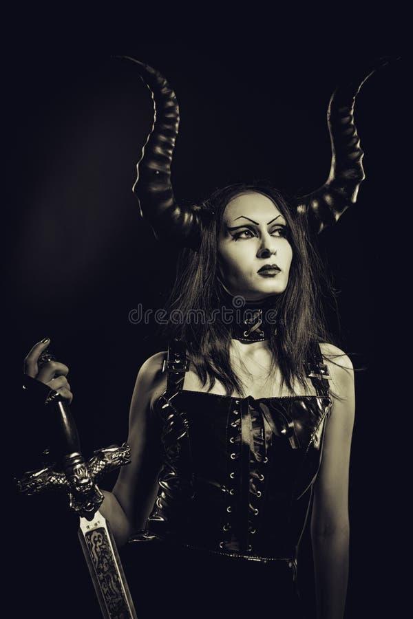 Beleza infernal foto de stock royalty free