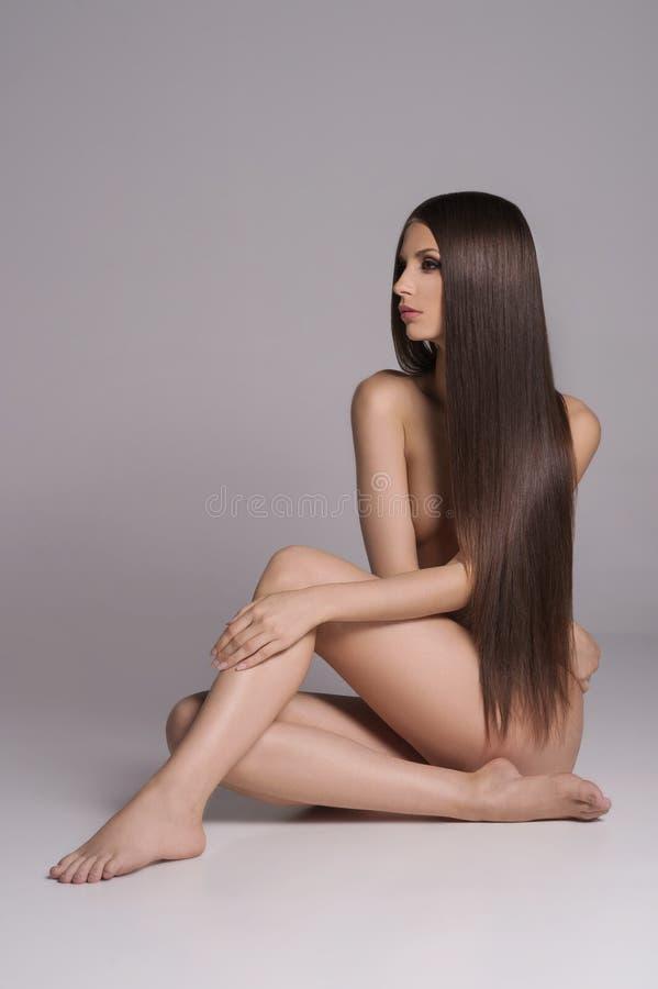 Beleza longa do cabelo. fotos de stock royalty free
