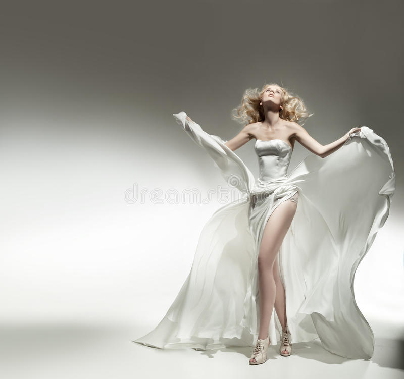 Beleza loura romântica fotos de stock