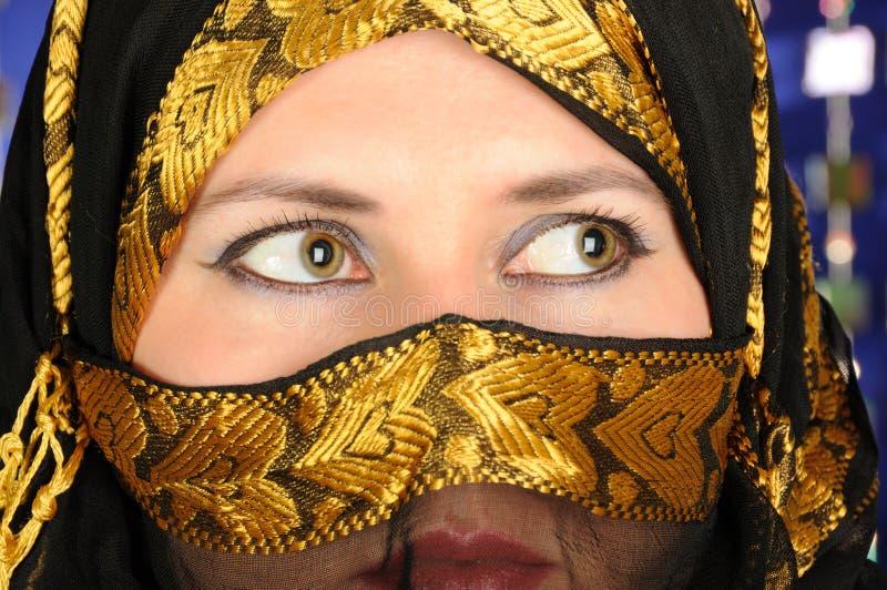 Beleza muçulmana fotografia de stock royalty free