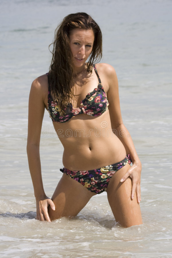 Beleza na praia 2 foto de stock