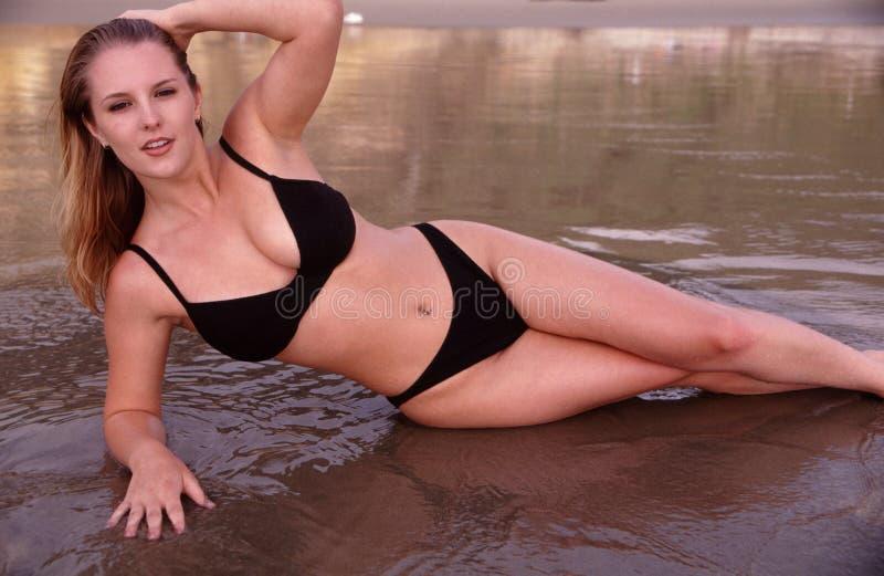 Beleza na praia imagens de stock