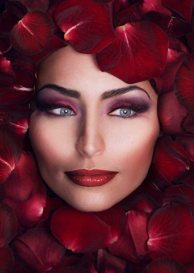 Beleza nas pétalas de Rosa imagem de stock royalty free