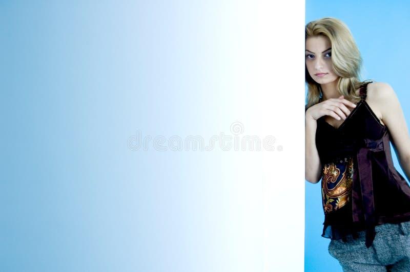 Beleza no azul 17 imagem de stock