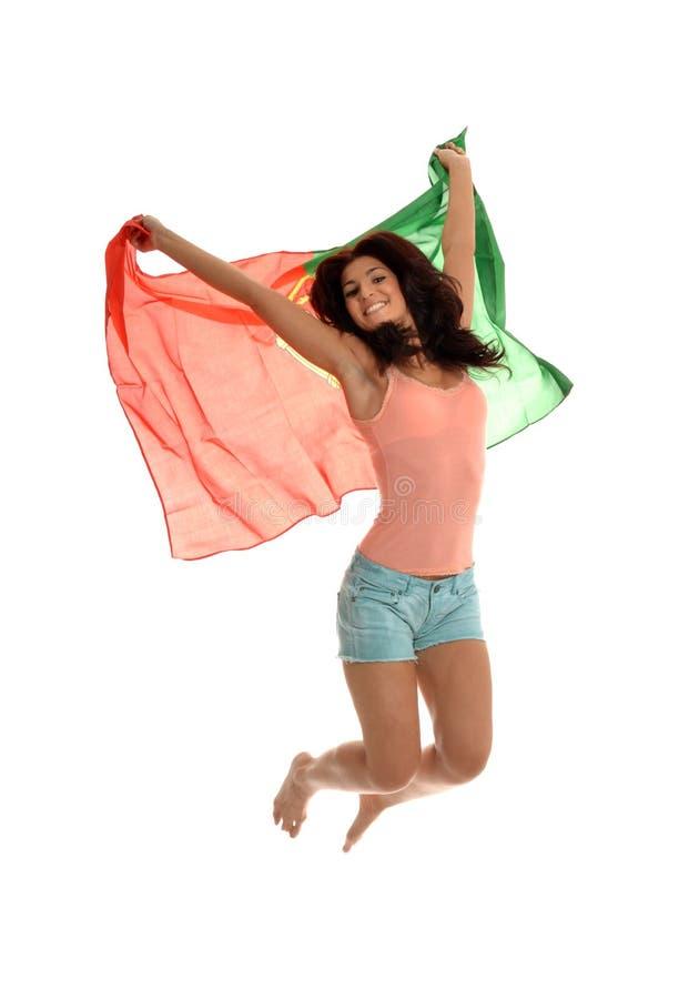 Beleza portuguesa de salto fotos de stock