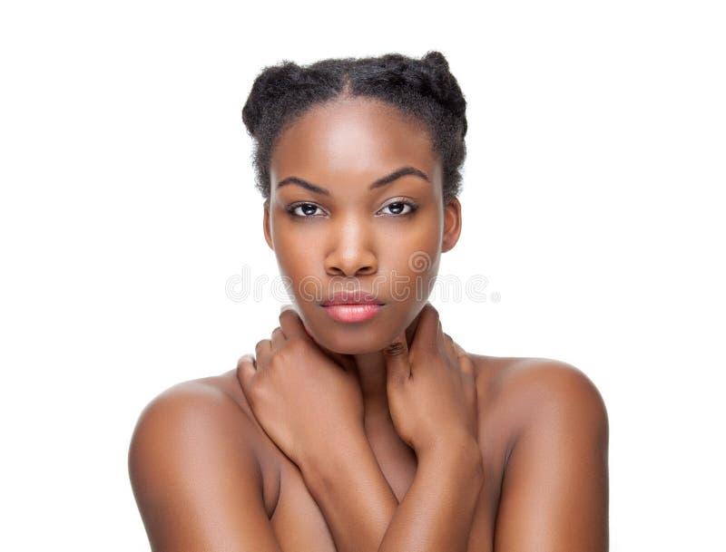 Beleza preta com pele perfeita fotos de stock