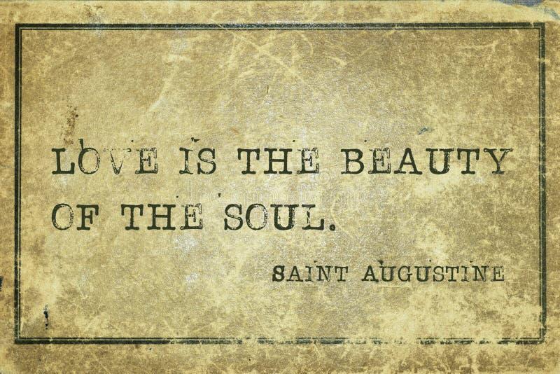 Beleza St Augustine da alma imagem de stock
