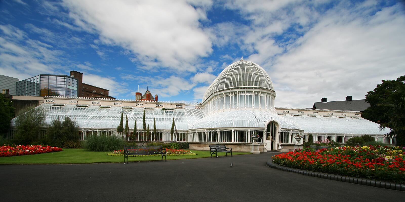 belfast botanisk trädgård arkivfoto