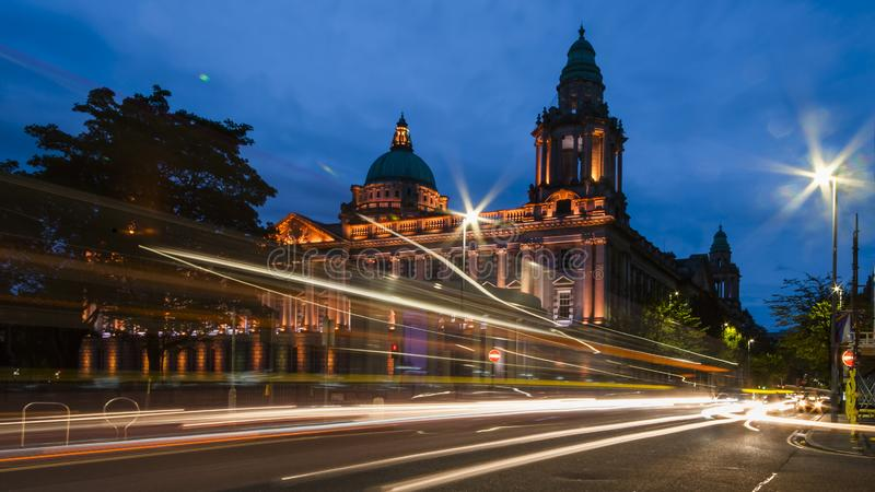 Belfast City Hall. Is located in the Denger Square in the heart of Belfast, Northern Ireland. Built in 1898-1906, architect Alfred Brumwell Thomas, costing £ royalty free stock photo