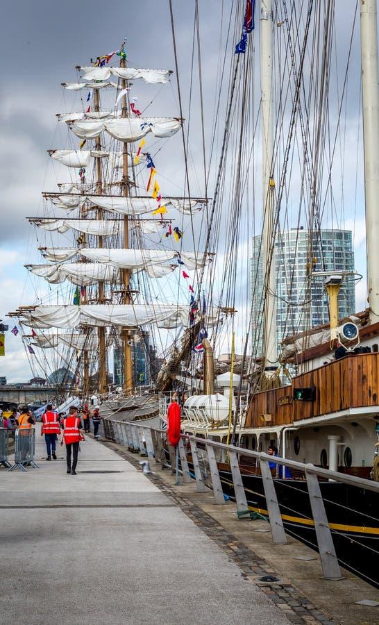 Belfast dokt lang schepenfestival royalty-vrije stock afbeeldingen