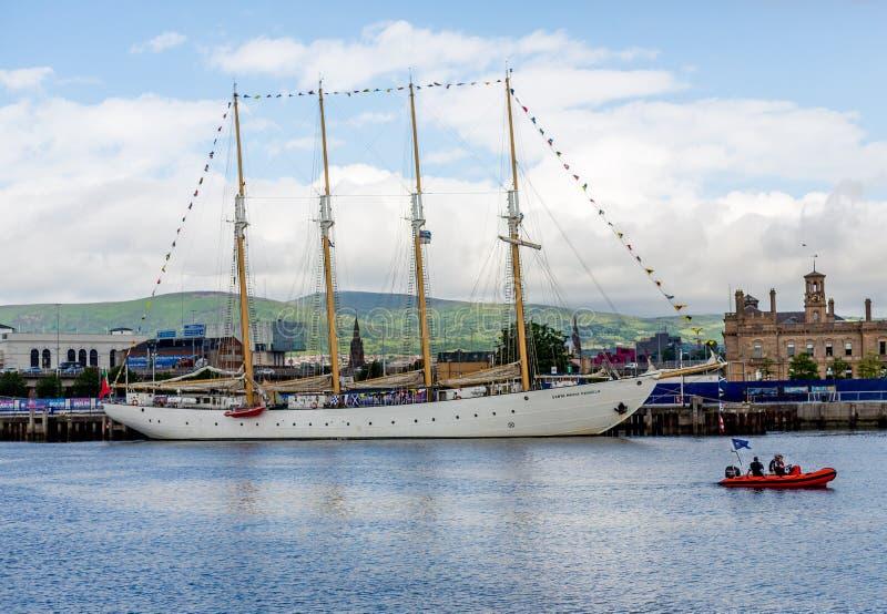 Belfast dokt lang schepenfestival stock foto's