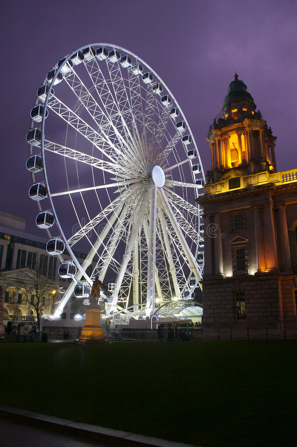 Download Belfast Eye 2 stock photo. Image of lights, night, view - 3607976