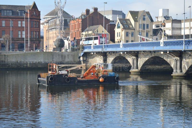 Belfast-Fischerboot lizenzfreies stockbild