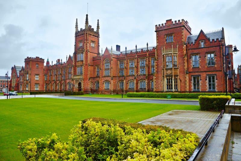 belfast królowej s uniwersytet zdjęcie royalty free