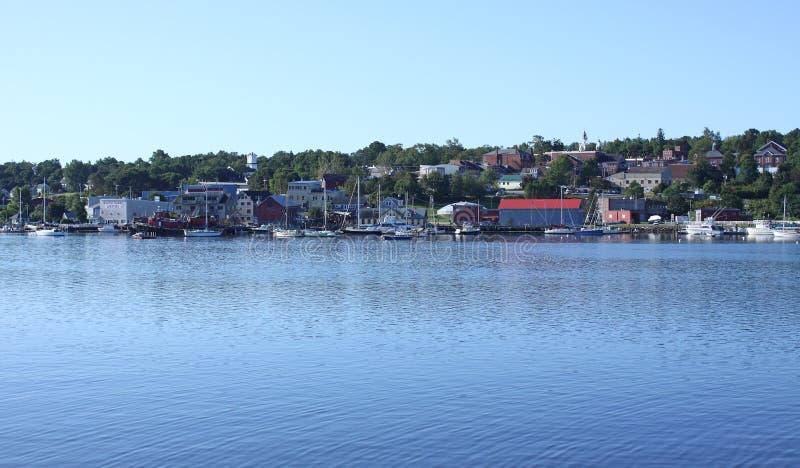 Belfast, lungomare del porto della Maine fotografia stock